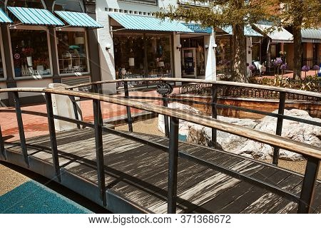 Boulder, Colorado - May 27th, 2020:  Children\'s Play Area Featuring Climbing Boulders And Pedestria