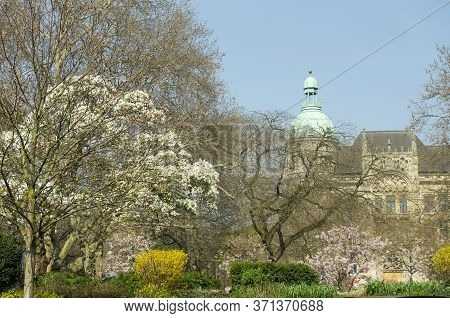 Hannover Germany During Sunny Spring Day City Center
