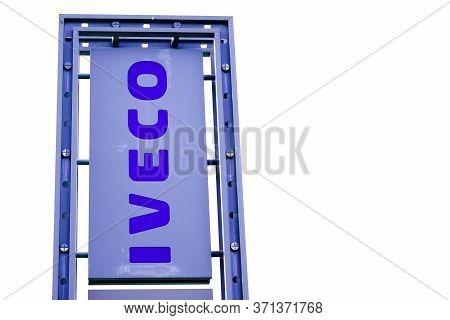 Bordeaux , Aquitaine / France - 11 19 2019 : Iveco Trucks Sign Logo Shop Dealership Van Bus Store Br
