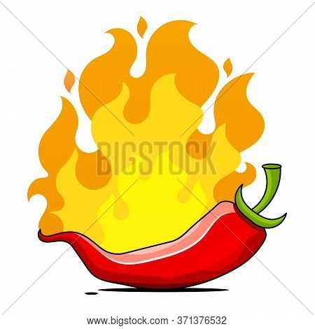 Hot Pepper, Vector Illustration Suitable For Greeting Card, Poster