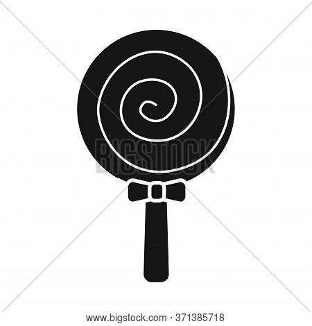 Vector Illustration Of Lollipop And Spiral Icon. Graphic Of Lollipop And Yellow Stock Vector Illustr