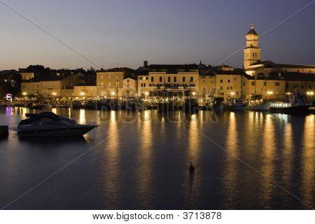Krk Old Town At Night