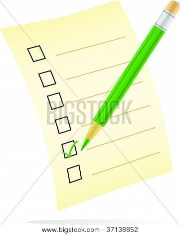 vector image of a checklist with tick mark