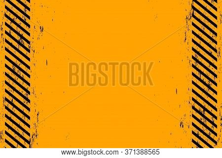 Yellow Background With Grunge Black Diagonal Stripes