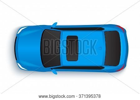 Vector Car Top View Icon Illustration. Vehicle Flat Isolated Car Vehicle Isolated Icon