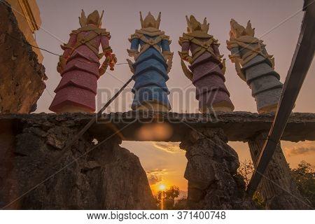 Thailand Mae Sot Temple Shrine
