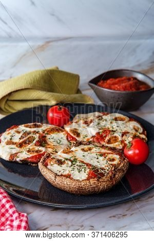 Gluten-free Pizza Stuffed Portobello Mushrooms For People With Celiac Disease