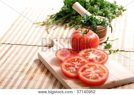 Tomatoes And Cilantro