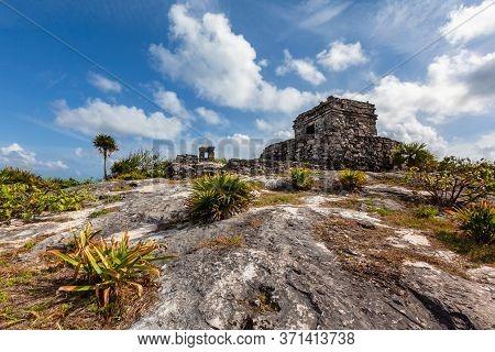 Tulum Mayan Ruins Landscape. Mexico Quintana Roo