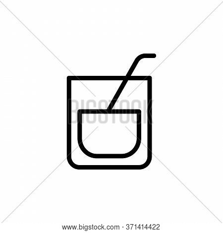 Old Fashioned Glass, Cocktail Concept Line Icon. Simple Element Illustration. Old Fashioned Glass, C