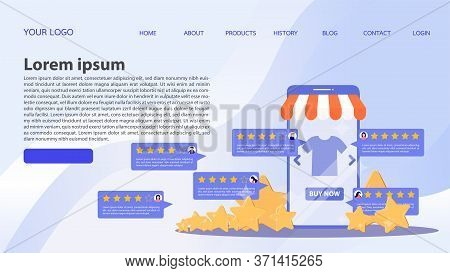 Template For Your Design Works. Feedback Concept. Customer Review Rating Online Shopping. Online Sto