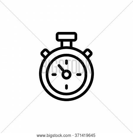 Stopwatch Concept Line Icon. Simple Element Illustration. Stopwatch Concept Outline Symbol Design Fr