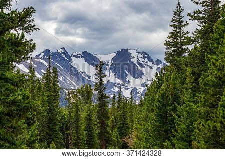 Dramatic Forest And Indian Peaks Near Red Rock Lake, Nederland, Colorado, On A Spring Day