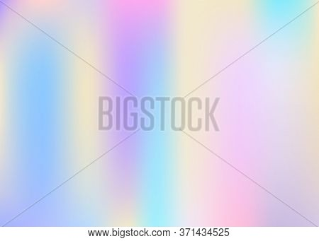 Hologram Abstract Background. Bright Gradient Mesh Backdrop With Hologram. 90s, 80s Retro Style. Pea