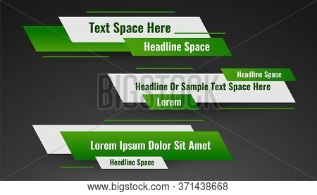 Geometric Green Lower Third Banner Template Design