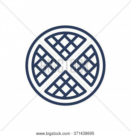 Apple Pie Thin Line Icon. Fruit, Dough, Cinnamon Isolated Outline Sign. Sweet Desserts And Bakery Co