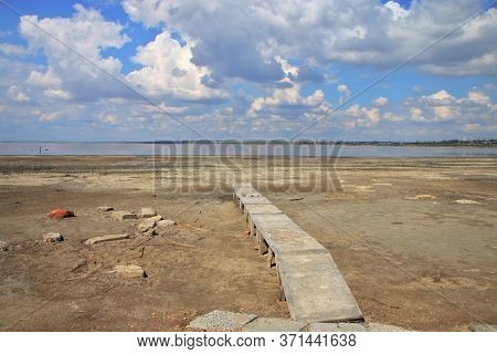 In The Photograph, A Dying Salty Estuary Called Kuyalnik, Near The City Of Odessa In Ukraine.