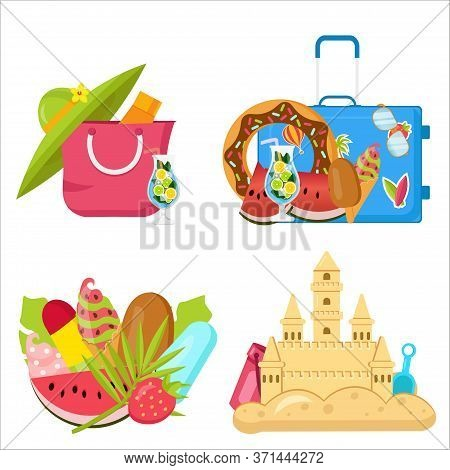 Bright, Minimalist Vector Images, Objects That Capture The Spirit Of Summer, Summertime, Summer Colo