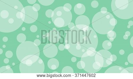 Green Pastel Soft Bokeh For Background, Bubble Bokeh Glowing Circle Soft For Wallpaper, Illustration