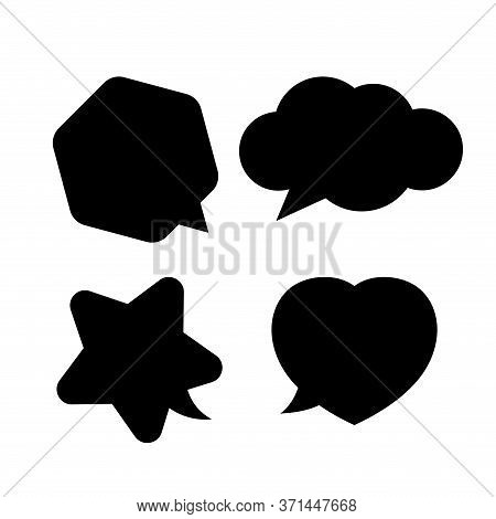 Star Shaped Speech Bubble, Heart Shaped Speech Bubble, Hexagon Speech Bubble, Cloud Speech Bubble, G