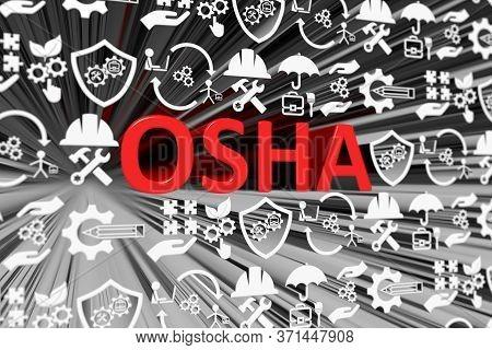 Osha Concept Blurred Background 3d Render Illustration