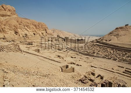 Ancient Necropolis Valley Of Artisans In Luxor, Egypt