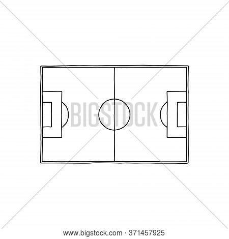 Football Plan Board. Linear Illustration. Football Field. Tactics Game.