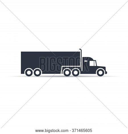 Truck Icon. Truck Vector Icon. Transportation Symbol Vector Illustration