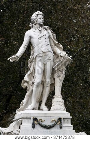 Architectural Elements Of The Mozart Monument Created In 1896 In Vienna In Austria