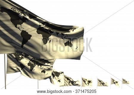 Pretty Any Feast Flag 3d Illustration  - Sri Lanka Isolated Flags Placed Diagonal, Image With Soft F