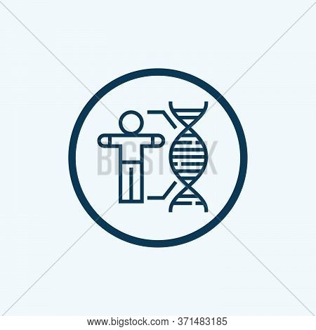 Dna Strand Icon Isolated On White Background. Dna Strand Icon Simple Sign. Dna Strand Icon Trendy An