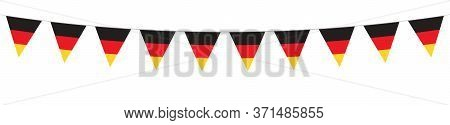 German National Holiday. German Flags With Stripes And National Colors. Unification. Memorial Day. B