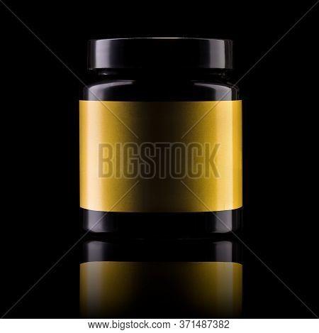 Sport Nutrition Like Whey Protein Casein, Bcaa, Creatine Plastic Jar Isolated