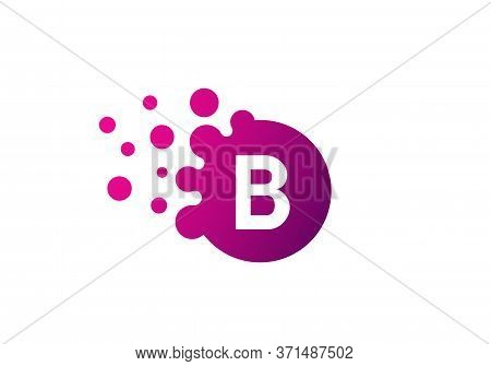 Letter B Bubbles Logo Template. Vector Brand Name Design. Dots Letter B Logo. B Letter Design Vector