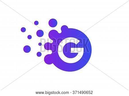 Premium Letter G Bubbles Logo Template. Vector Brand Name Design. Dots Letter G Logo. G Letter Desig