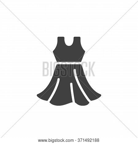Sleeveless Dress Vector Icon. Filled Flat Sign For Mobile Concept And Web Design. Sundress Glyph Ico