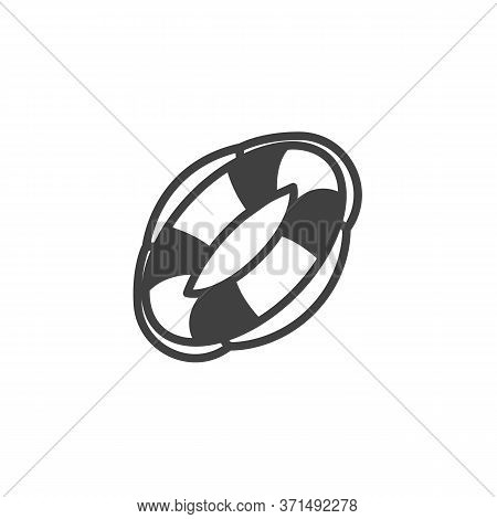 Lifebuoy Vector Icon. Filled Flat Sign For Mobile Concept And Web Design. Life Saver Buoy Glyph Icon