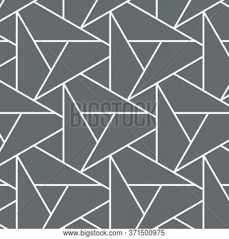 Pattern With Thin Lines Repeating With Poligons And Geometric Shapes And Stylish Fractal Texture. Pa