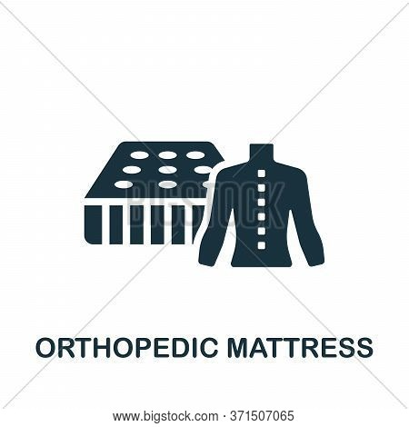 Orthopedic Mattress Icon. Simple Element From Trauma Rehabilitation Collection. Creative Orthopedic