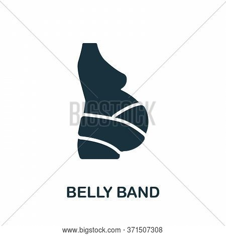 Belly Band Icon. Simple Element From Trauma Rehabilitation Collection. Creative Belly Band Icon For