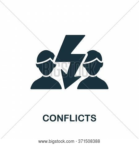 Conflicts Icon. Simple Element From Psychology Collection. Creative Conflicts Icon For Web Design, T
