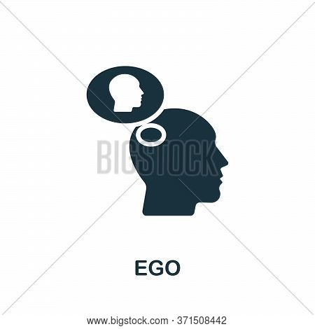 Ego Icon. Simple Element From Psychology Collection. Creative Ego Icon For Web Design, Templates, In