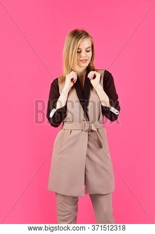 Clothes For Everyday Life. Businesswoman Or Secretary. Stylish Fashion Model. Woman In Beauty Salon.
