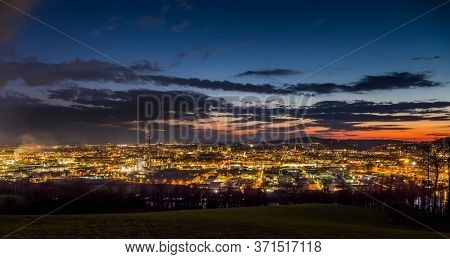 linz, austria, night shot at evening
