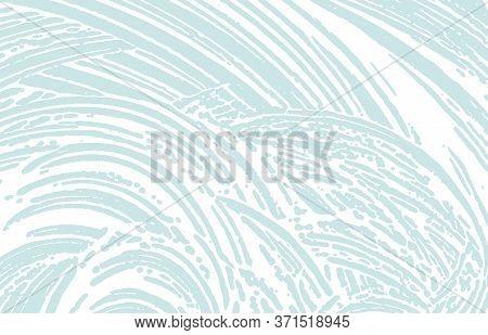 Grunge Texture. Distress Blue Rough Trace. Curious Background. Noise Dirty Grunge Texture. Remarkabl