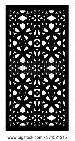 Laser Cutting. Decorative Vector Panel For Laser Cutting. Template For Interior Partition In Arabesq