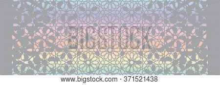 Holographic Effect Background. Arabian Holographic Vector Modern Background.