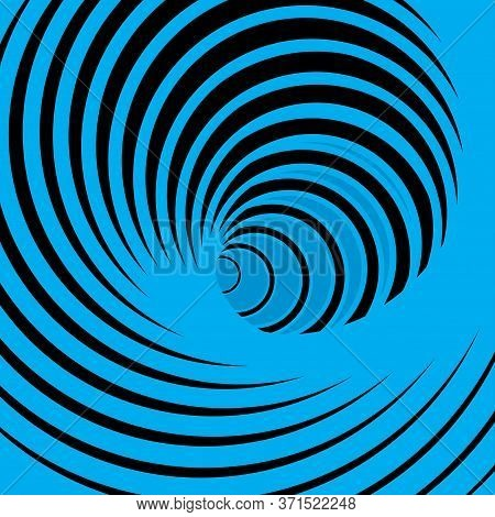 Abstract Vector Background With Blue Spiral Vortex. Vector Illustration For Your Graphic Design.