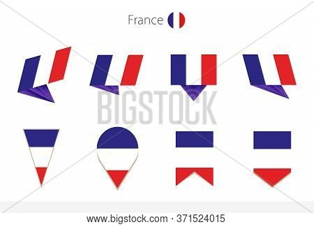France National Flag Collection, Eight Versions Of France Vector Flags. Vector Illustration.