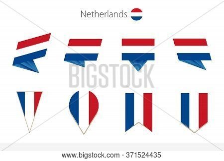 Netherlands National Flag Collection, Eight Versions Of Netherlands Vector Flags. Vector Illustratio